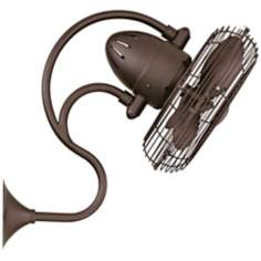 Melody Textured Bronze Wall Mount Fan