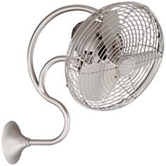 Melody Brushed Nickel Wall Mount Fan