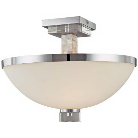 "Cashelmara Collection Shell Mosaic 16"" Wide Ceiling Light"