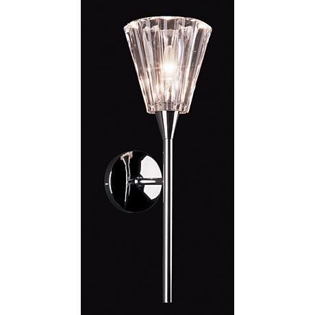 "Visione Chrome 18"" High Wall Sconce"