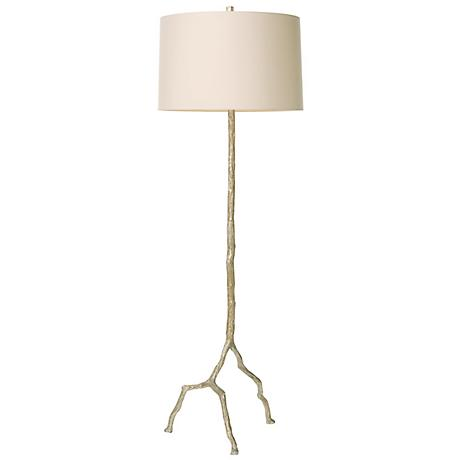 Arteriors Home Forest Park Distressed Silver Floor Lamp