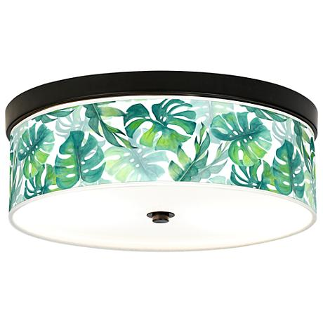 Tropica Giclee Energy Efficient Bronze Ceiling Light
