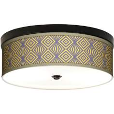 Deco Revival Giclee Energy Efficient Bronze Ceiling Light