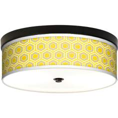 Honeycomb Giclee Energy Efficient Bronze Ceiling Light