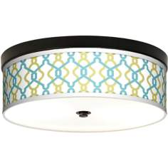 Hyper Links Giclee Energy Efficient Bronze Ceiling Light