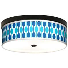 Jet Set Giclee Energy Efficient Bronze Ceiling Light