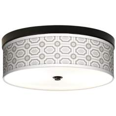 Luxe Tile Giclee Energy Efficient Bronze Ceiling Light