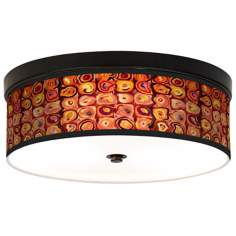Vibrating Colors Giclee Energy Efficient Bronze Ceiling Light