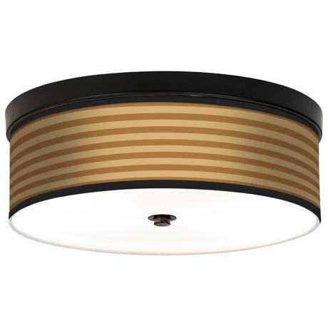 Butterscotch Parallels Energy Efficient Bronze Ceiling Light