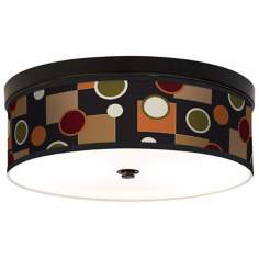 Retro Medley Giclee Energy Efficient Bronze Ceiling Light