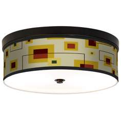 Windows Giclee Energy Efficient Bronze Ceiling Light