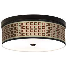 Simply Squares Giclee Energy Efficient Bronze Ceiling Light