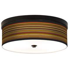 Stacy Garcia Spice Stripe CFL Bronze Ceiling Light