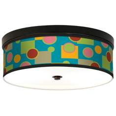 Vibrant Retro Medley Giclee Energy Efficient Bronze Ceiling Light