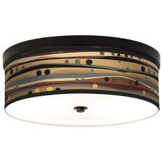 Natural Dots and Waves Energy Efficient Bronze Ceiling Light