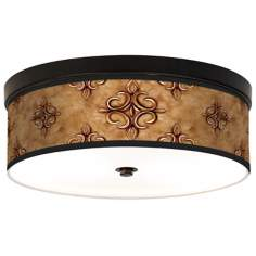 Estate Nutmeg Giclee Energy Efficient Bronze Ceiling Light