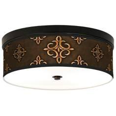 Estate Mocha Giclee Bronze CFL Ceiling Light