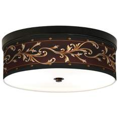 Athenian Leaf Giclee Bronze CFL Ceiling Light