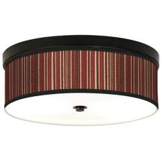 Woven Giclee Bronze CFL Ceiling Light