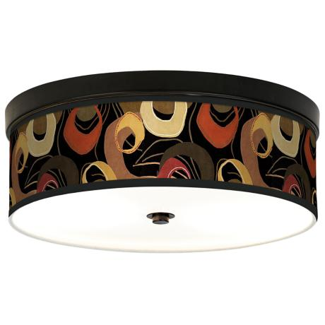 Rhythm Motif Giclee Bronze CFL Ceiling Light