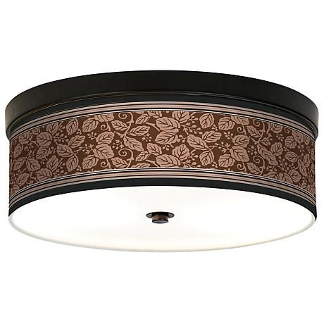 Wooden Park Giclee Bronze CFL Ceiling Light