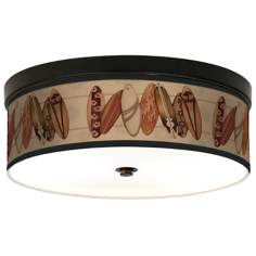 Perfect Wave Giclee Bronze CFL Ceiling Light