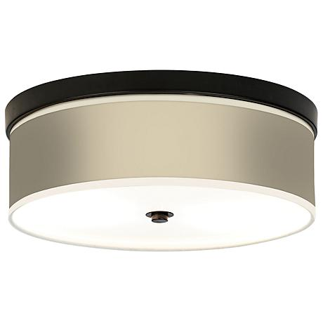 Softer Tan Giclee Bronze CFL Ceiling Light