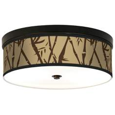 Earth Bamboo Giclee Bronze CFL Ceiling Light