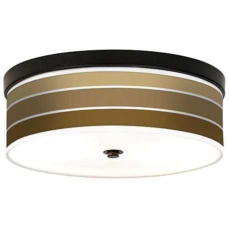 Tones of Chestnut Giclee Bronze CFL Ceiling Light