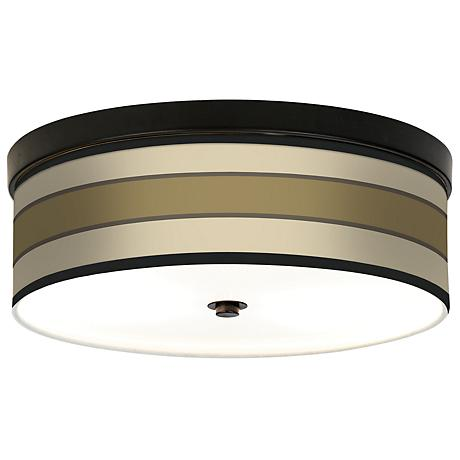 Tones of Beige Giclee Bronze CFL Ceiling Light