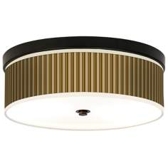 Umber Stripes Giclee Bronze CFL Ceiling Light