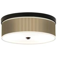 Fawn Stripes Giclee Bronze CFL Ceiling Light