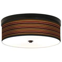 Tones of Sienna Giclee Bronze CFL Ceiling Light
