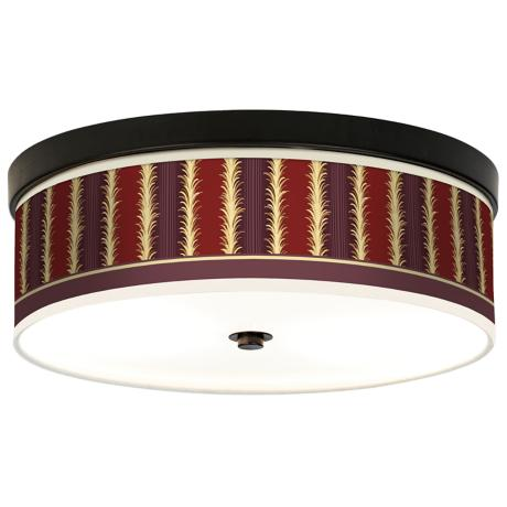 Lexington Stripe Giclee Bronze CFL Ceiling Light