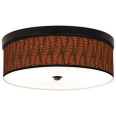 Stacy Garcia Fancy Fern Plum Bronze CFL Ceiling Light