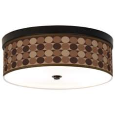 Sienna Gray Circles Giclee Bronze CFL Ceiling Light