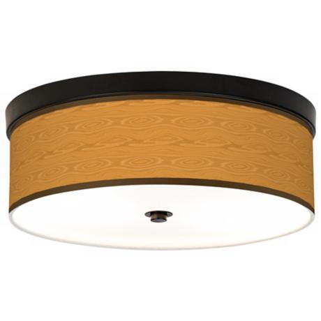 Wood Grain Giclee Bronze CFL Ceiling Light