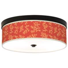 Tangerine Coral Giclee Bronze CFL Ceiling Light