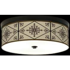 Chambly Giclee Energy Efficient Bronze Ceiling Light
