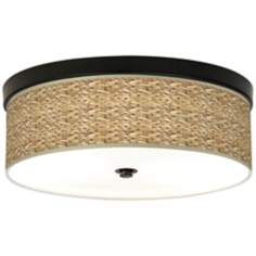 Seagrass Giclee Energy Efficient Bronze Ceiling Light