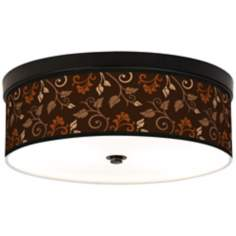 Foliage Giclee Energy Efficient Bronze Ceiling Light