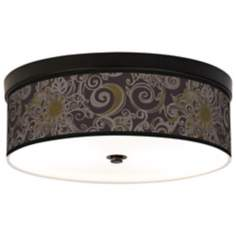 Stacy Garcia Ornament Metal Bronze Giclee Ceiling Light