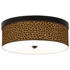Safari Cheetah Giclee Energy Efficient Bronze Ceiling Light