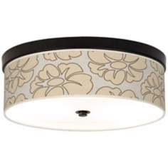 Floral Silhouette Giclee Bronze Energy Efficient Ceiling Light
