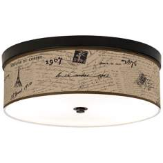 Letters To Paris Linen Giclee Energy Efficient Ceiling Light