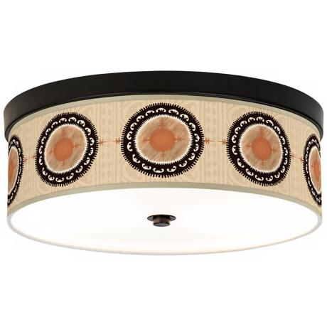"Travelers Compass Bronze 14"" Energy Efficient Ceiling Light"