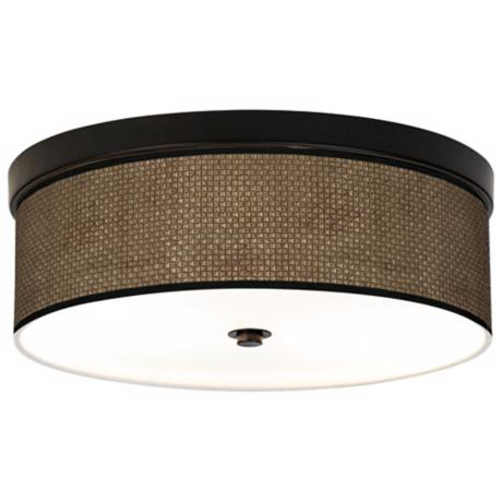 "Interweave Giclee 14"" Wide Energy Efficient Ceiling Light"
