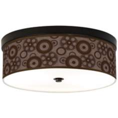 Industrial Gears Bronze Energy Efficient Giclee Ceiling Light