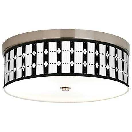 Tribal Weave Giclee Energy Efficient Ceiling Light