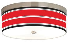 Red Stripes Giclee Energy Efficient Ceiling Light